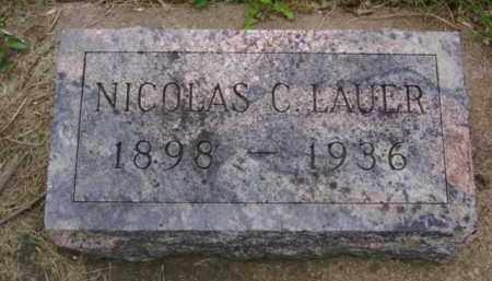 LAUER, NICOLAS C. - Minnehaha County, South Dakota | NICOLAS C. LAUER - South Dakota Gravestone Photos