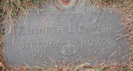 LAWLOR, KENNETH L. - Minnehaha County, South Dakota | KENNETH L. LAWLOR - South Dakota Gravestone Photos