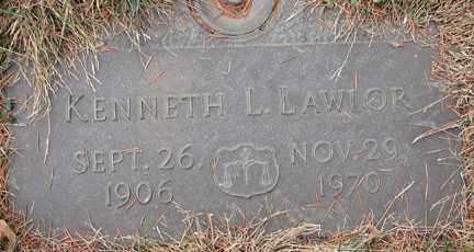 LAWLOR, KENNETH L. - Minnehaha County, South Dakota | KENNETH L. LAWLOR - South Dakota Gravestone Photos