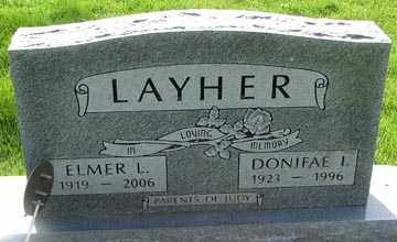 ANDERSON LAYHER, DONIFAE - Minnehaha County, South Dakota | DONIFAE ANDERSON LAYHER - South Dakota Gravestone Photos