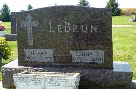 LEBRUN, LEONA K. - Minnehaha County, South Dakota | LEONA K. LEBRUN - South Dakota Gravestone Photos
