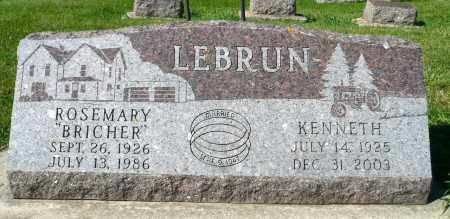 LEBRUN, ROSEMARY - Minnehaha County, South Dakota | ROSEMARY LEBRUN - South Dakota Gravestone Photos