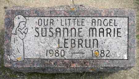 LEBRUN, SUSANNE MARIE - Minnehaha County, South Dakota | SUSANNE MARIE LEBRUN - South Dakota Gravestone Photos