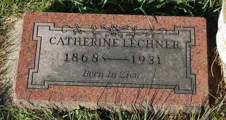 LECHNER, CATHERINE - Minnehaha County, South Dakota | CATHERINE LECHNER - South Dakota Gravestone Photos
