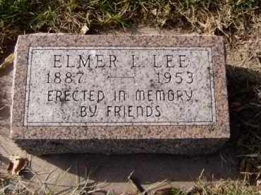 LEE, ELMER L. - Minnehaha County, South Dakota | ELMER L. LEE - South Dakota Gravestone Photos