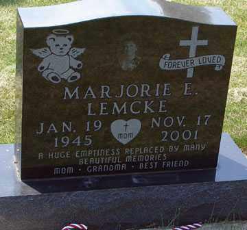 LEMCKE, MARJORIE E. - Minnehaha County, South Dakota | MARJORIE E. LEMCKE - South Dakota Gravestone Photos