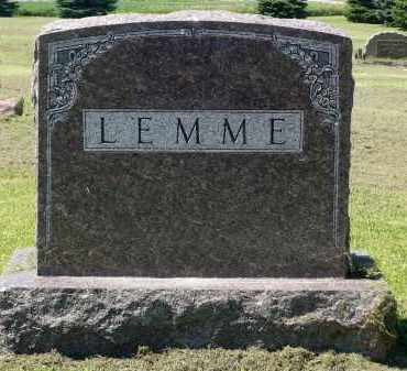 LEMME, FAMILY MARKER - Minnehaha County, South Dakota | FAMILY MARKER LEMME - South Dakota Gravestone Photos