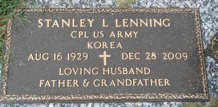 LENNING, STANLEY L. (KOREA) - Minnehaha County, South Dakota   STANLEY L. (KOREA) LENNING - South Dakota Gravestone Photos