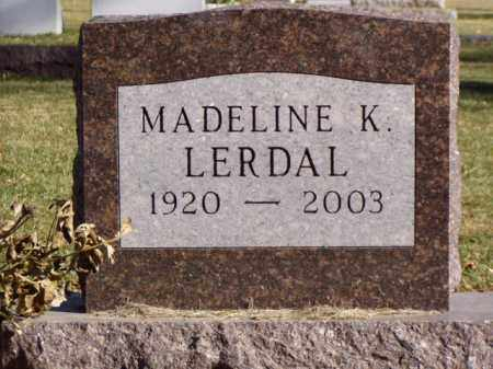LERDAL, MADELINE K. - Minnehaha County, South Dakota | MADELINE K. LERDAL - South Dakota Gravestone Photos