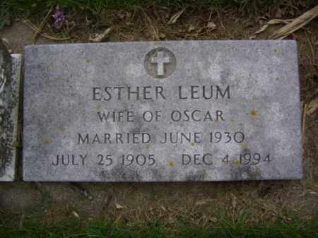 LEUM, ESTHER - Minnehaha County, South Dakota | ESTHER LEUM - South Dakota Gravestone Photos