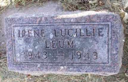LEUM, IRENE LUCILLIE - Minnehaha County, South Dakota | IRENE LUCILLIE LEUM - South Dakota Gravestone Photos