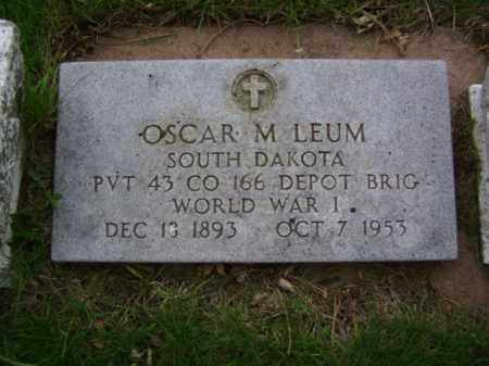 LEUM, OSCAR MARTIN - Minnehaha County, South Dakota | OSCAR MARTIN LEUM - South Dakota Gravestone Photos