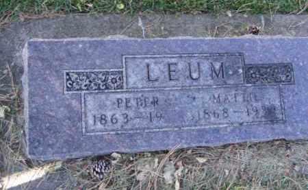 LEUM, MATTIE - Minnehaha County, South Dakota   MATTIE LEUM - South Dakota Gravestone Photos