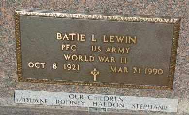 LEWIN, BATIE L.  (WW II) - Minnehaha County, South Dakota | BATIE L.  (WW II) LEWIN - South Dakota Gravestone Photos