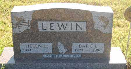 LEWIN, HELEN L. - Minnehaha County, South Dakota | HELEN L. LEWIN - South Dakota Gravestone Photos