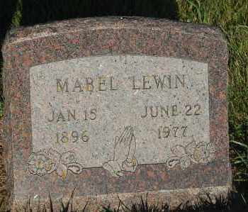 LEWIN, MABEL - Minnehaha County, South Dakota | MABEL LEWIN - South Dakota Gravestone Photos