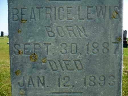 LEWIS, BEATRICE - Minnehaha County, South Dakota | BEATRICE LEWIS - South Dakota Gravestone Photos