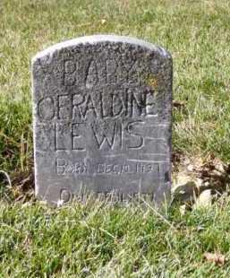 LEWIS, GERALDINE - Minnehaha County, South Dakota | GERALDINE LEWIS - South Dakota Gravestone Photos