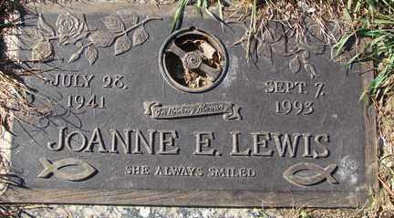 LEWIS, JOANNE E. - Minnehaha County, South Dakota | JOANNE E. LEWIS - South Dakota Gravestone Photos