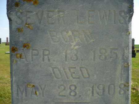 LEWIS, SEVER - Minnehaha County, South Dakota | SEVER LEWIS - South Dakota Gravestone Photos