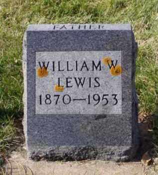LEWIS, WILLIAM W. - Minnehaha County, South Dakota | WILLIAM W. LEWIS - South Dakota Gravestone Photos