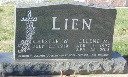 LIEN, CHESTER W. - Minnehaha County, South Dakota   CHESTER W. LIEN - South Dakota Gravestone Photos