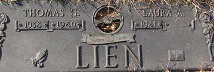 LIEN, THOMAS G. - Minnehaha County, South Dakota | THOMAS G. LIEN - South Dakota Gravestone Photos