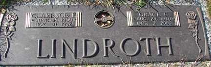 LINDROTH, GRACE E. - Minnehaha County, South Dakota   GRACE E. LINDROTH - South Dakota Gravestone Photos