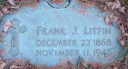 LITFIN, FRANK J. - Minnehaha County, South Dakota   FRANK J. LITFIN - South Dakota Gravestone Photos