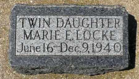 LOCKE, MARIE E. - Minnehaha County, South Dakota | MARIE E. LOCKE - South Dakota Gravestone Photos