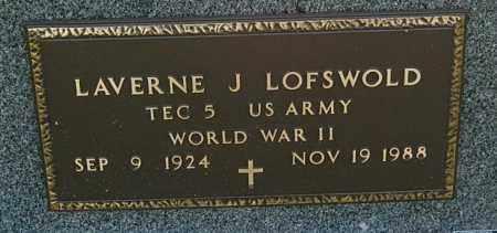 LOFSWOLD, LAVERNE J. (WW II) - Minnehaha County, South Dakota | LAVERNE J. (WW II) LOFSWOLD - South Dakota Gravestone Photos