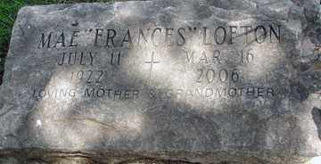"ANDERSON LOFTON, MAE ""FRANCES"" - Minnehaha County, South Dakota | MAE ""FRANCES"" ANDERSON LOFTON - South Dakota Gravestone Photos"
