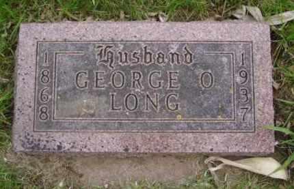 LONG, GEORGE O.  REV. - Minnehaha County, South Dakota   GEORGE O.  REV. LONG - South Dakota Gravestone Photos