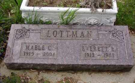 LOTTMAN, EVERETT EDWIN - Minnehaha County, South Dakota | EVERETT EDWIN LOTTMAN - South Dakota Gravestone Photos