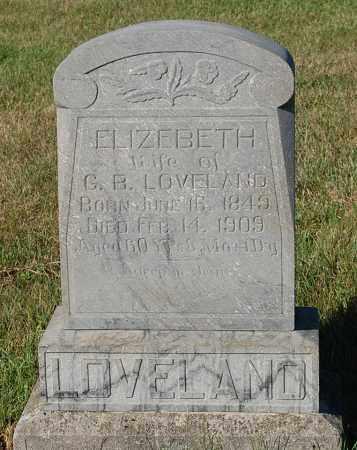 LOVELAND, ELIZEBETH - Minnehaha County, South Dakota | ELIZEBETH LOVELAND - South Dakota Gravestone Photos