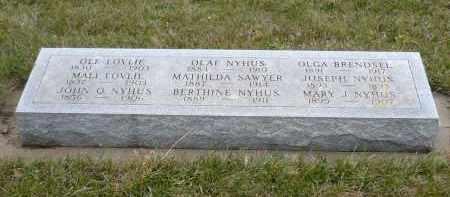 NYHUS, MARY J. - Minnehaha County, South Dakota | MARY J. NYHUS - South Dakota Gravestone Photos