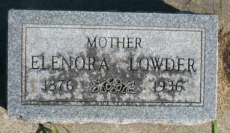 LOWDER, ELENORA - Minnehaha County, South Dakota | ELENORA LOWDER - South Dakota Gravestone Photos