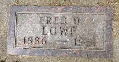 LOWE, FRED O. - Minnehaha County, South Dakota | FRED O. LOWE - South Dakota Gravestone Photos