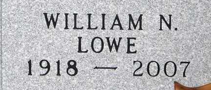 LOWE, WILLIAM N. - Minnehaha County, South Dakota | WILLIAM N. LOWE - South Dakota Gravestone Photos