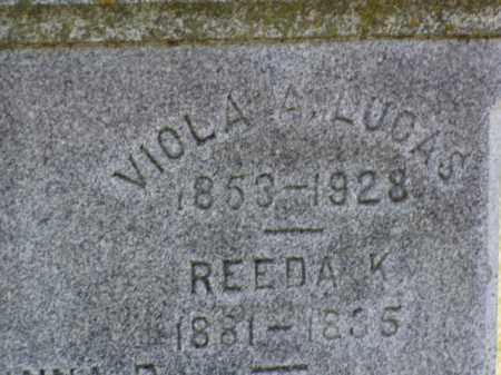 LUCAS, VIOLA A. - Minnehaha County, South Dakota | VIOLA A. LUCAS - South Dakota Gravestone Photos