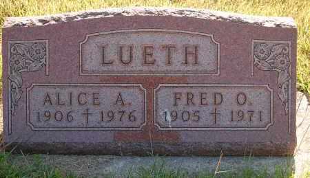 LUETH, ALICE A. - Minnehaha County, South Dakota | ALICE A. LUETH - South Dakota Gravestone Photos