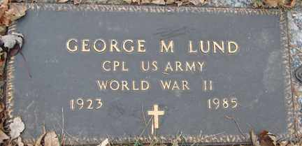 LUND, GEORGE M. (WWII) - Minnehaha County, South Dakota | GEORGE M. (WWII) LUND - South Dakota Gravestone Photos