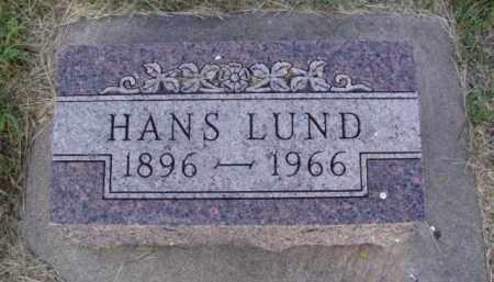 LUND, HANS - Minnehaha County, South Dakota | HANS LUND - South Dakota Gravestone Photos