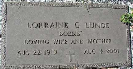 ROACH LUNDE, LORRAINE G. - Minnehaha County, South Dakota   LORRAINE G. ROACH LUNDE - South Dakota Gravestone Photos