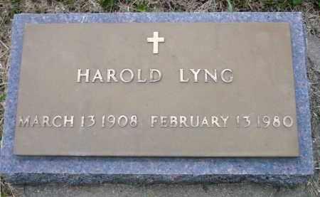 LYNG, HAROLD - Minnehaha County, South Dakota   HAROLD LYNG - South Dakota Gravestone Photos