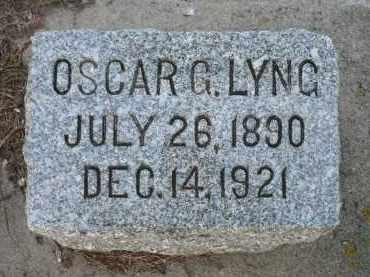 LYNG, OSCAR GERHARD - Minnehaha County, South Dakota | OSCAR GERHARD LYNG - South Dakota Gravestone Photos