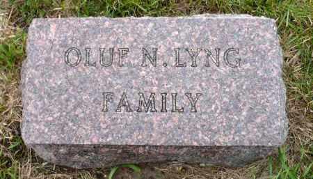 LYNG, OLUF N. FAMILY MARKER - Minnehaha County, South Dakota | OLUF N. FAMILY MARKER LYNG - South Dakota Gravestone Photos