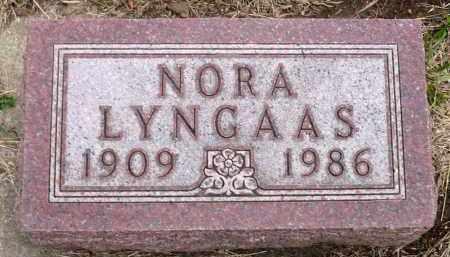 LYNGAAS, NORA - Minnehaha County, South Dakota | NORA LYNGAAS - South Dakota Gravestone Photos