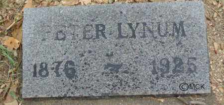LYNUM, PETER - Minnehaha County, South Dakota | PETER LYNUM - South Dakota Gravestone Photos