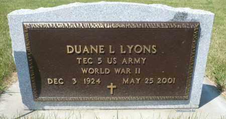 LYONS, DUANE L. - Minnehaha County, South Dakota   DUANE L. LYONS - South Dakota Gravestone Photos